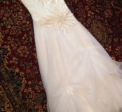 Свадебное платье 44-46р и шубка