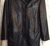 Женское, итальянское пальто из натуральной кожи