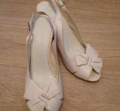 Туфли свадебные кожаные