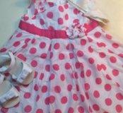 Платье и туфельки 6-9