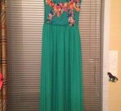 Платье зеленое, вечернее