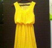 Платье шифоновое, с хорошим подкладом