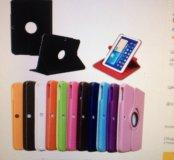 Чехол для samsung Galaxy Tab 3 10.1  кожаный чер.
