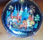 Тарелка сувенирная палех