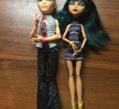 Куклы монстр хай дьюс и клео!