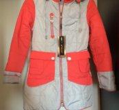 Новое пальто для девочки р.152