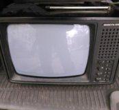 Телевизор винтажный переносной чб Юность 406д