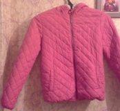 Куртка для девочки куртка розовая 152 размер осенн