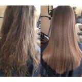 Полировка волос/ Кератиновое выпрямление/ботекс