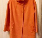 Пальто теплое цвет мандарин