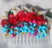 Гребень с цветами для волос