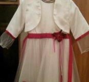 Нарядное детское платье с пиджаком