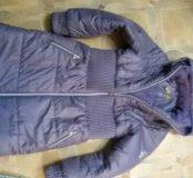 Теплое пальто 140-146 рост