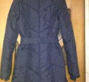 Пальто демисезонное темно синее
