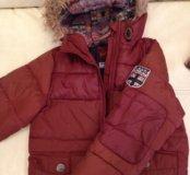 Тёплая куртка next на мальчика р. 110