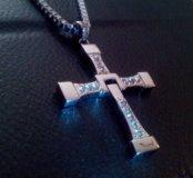 Крест Торетто из Форсажа на цепочке