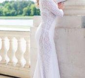 Платье в пол(Белого цвета)
