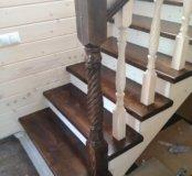 Изготовление лестниц из дерева.