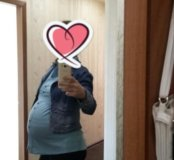 Черные брюки  для беременных