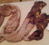Шелковый шарфик,длина 2 метра, новый