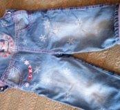 Полукомбинезон джинсовый детский