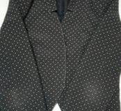 Пиджак темно синий в горошек