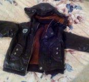 Куртка коженая детская
