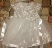 Продается белое нарядное детское платье