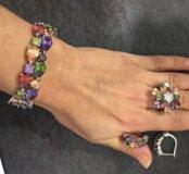 Ювелирный набор ( браслет, серьги, кольцо)