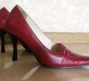 Туфли винного цвета