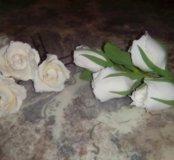 Свадебные цветы для волос