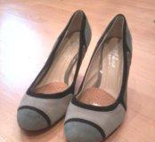 Туфли нубук, замша