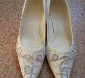 Туфли белые 41 размера