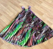 Платье солнце-клёш на поясе