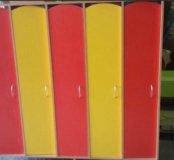Шкаф для одежды 4ех секционный для детского сада