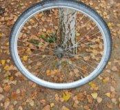 Колесо велосипедное заднее в сборе.