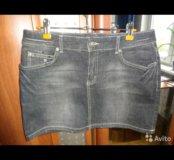 Юбка джинсовая Мехх, размер 44-46
