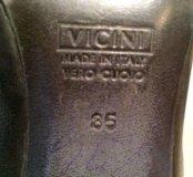 Черные высокие сапоги vicini