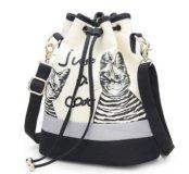 Женская сумка-рюкзак с котиками