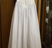 Свадебное платье с корсетом ручной работы