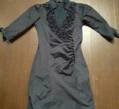 платье из плотного материала