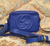 Сумка Gucci синего цвета