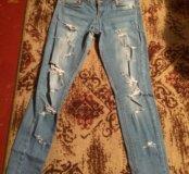Рваные джинсы б/у