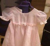 Платье розовое нарядное на 3-4 года