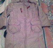 Длинное пальто на 4-5 лет