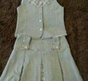 Школьная юбка и желет