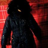 Зимнее пальто пуховик.