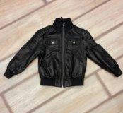 Детская кожанная куртка