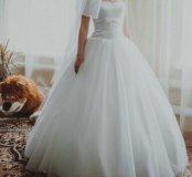 Платье свадебное + фата (новая) to be bride