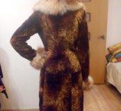 Шуба женская мутон-лиса
